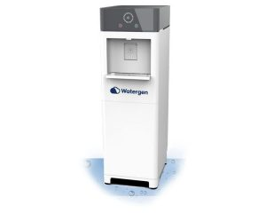 Water-from-air. Watergen's water atmospheric generator, called Genny, which generates 30 litres of drinking water a day. It is a plug-and-drink device. It requires electricity only. It is ideal for homes and offices as alternative to bottled water, the firm says.
